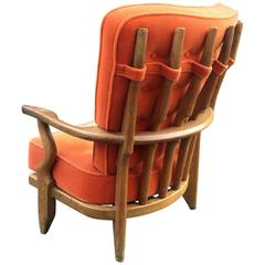 Guillerme et Chambron Solid Oak Armchair, Edition Votre Maison