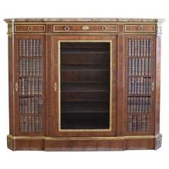 Napoleon III Cabinet in Walnut with Ormolu in Louis XVI Style, France, c. 1850