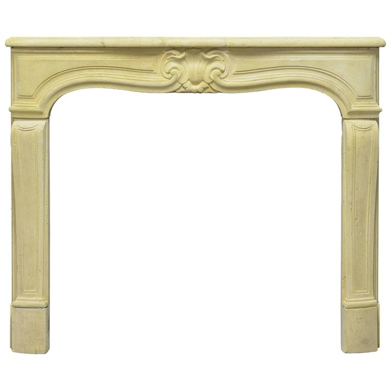 antique french limestone louis xv fireplace mantel for