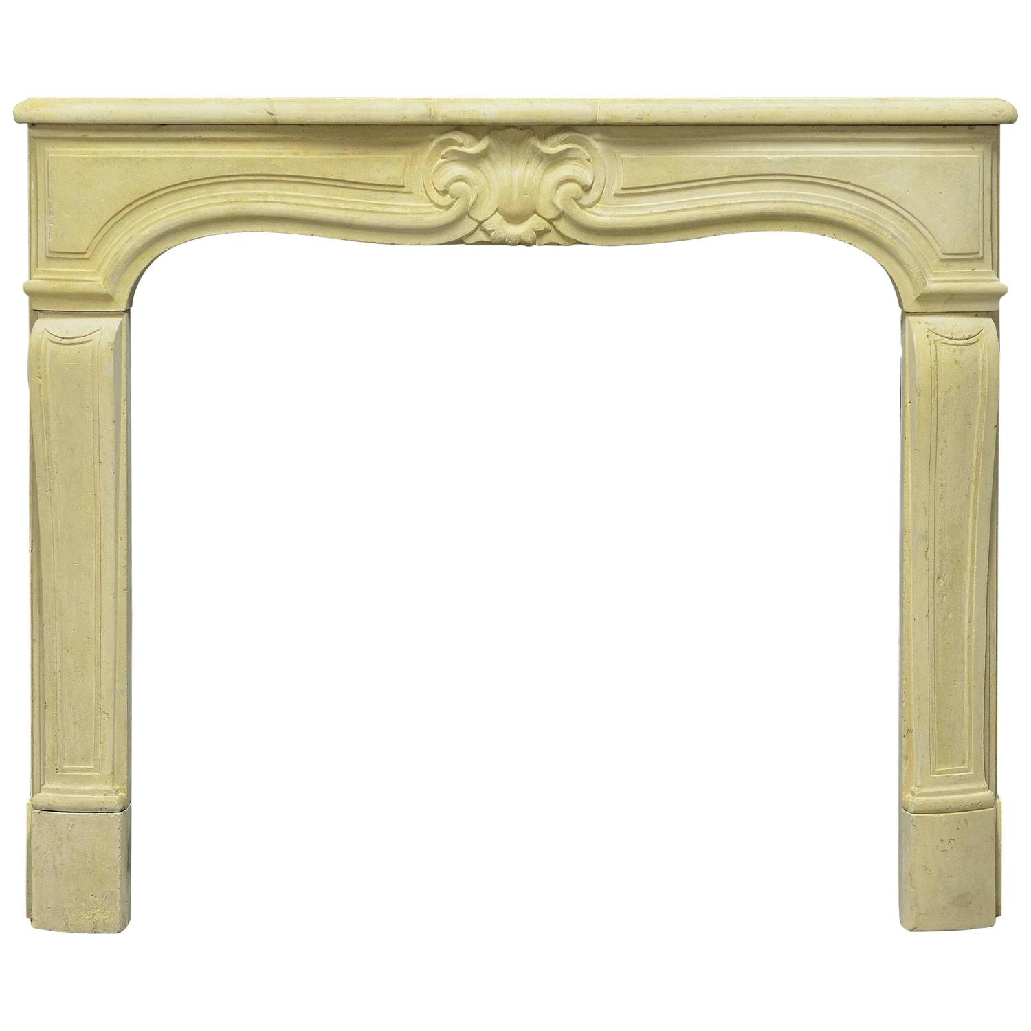 antique french limestone louis xv fireplace mantel for sale at 1stdibs