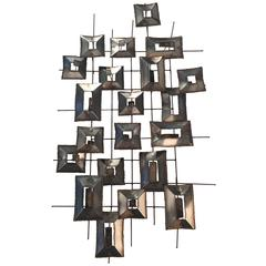 Geometric Wall Sculpture by Curtis Jere, 1970s