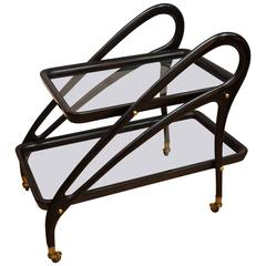 Bar Cart Attributed to Ico Parisi, Italy, circa 1950