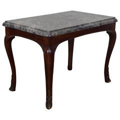 French Louis XV Period Walnut Salon Table with Bronze Mounts, 18th Century