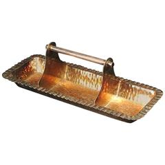 Aesthetic Movement Electro-Plated Oblong Tray by Hukin and Heath