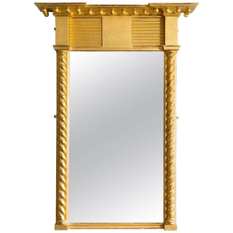Regency Style Giltwood Pier Mirror For Sale