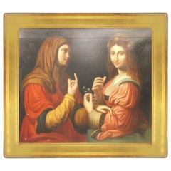 Framed Painting of Two Ladies