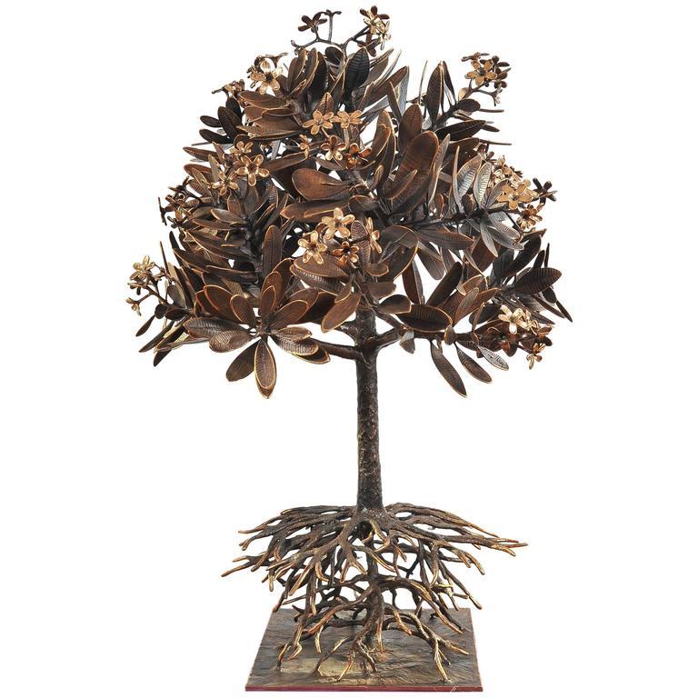 Lifesize Bronze Champa Tree