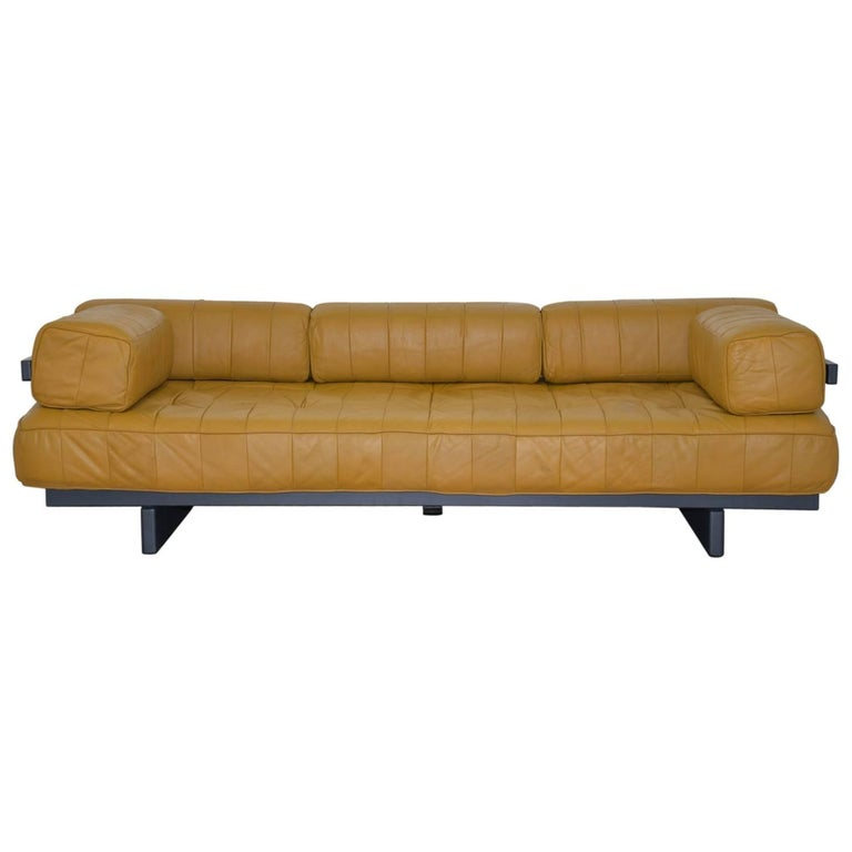 Vintage de Sede DS 80 Patchwork Leather Daybed, Switzerland 1960`s For Sale