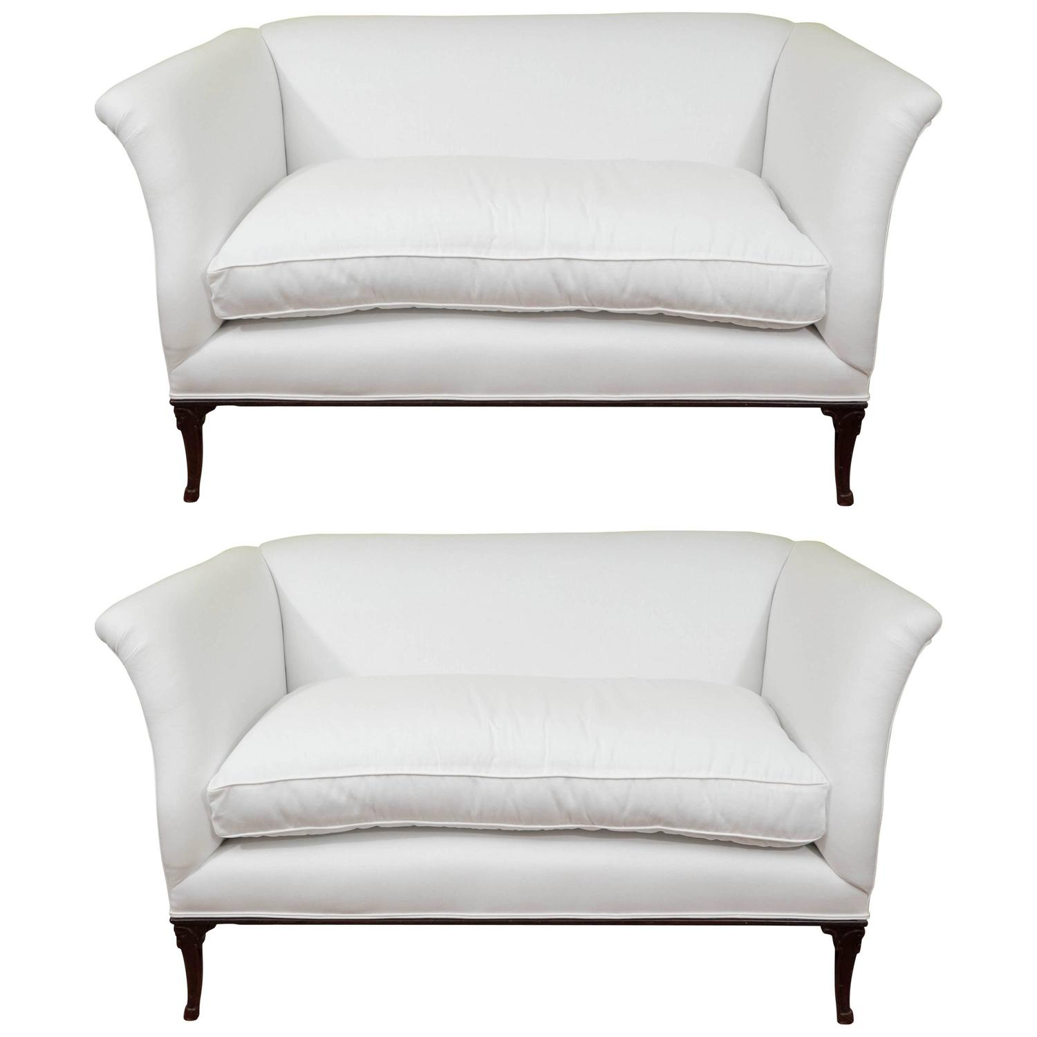 Pair of vintage settees for sale at 1stdibs for Settees for sale