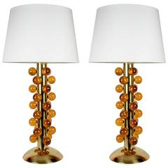 Pair of Murano Glass Lamps by Juanluca Fontana