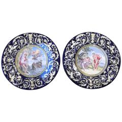 Pair of Italian Faience Chargers
