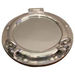 Aluminum Ship's Porthole Mirror