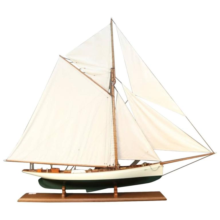 """Model of the America's Cup """"Puritan"""", 1885"""