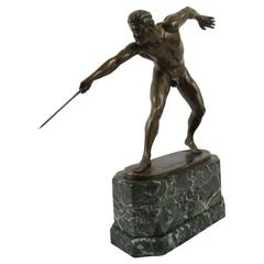Rudolf Marcuse Bronze Sculpture the Fighting Gladiator, Signed