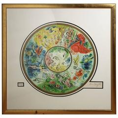"Marc Chagall ""Paris Opera Ceiling"" Artist Proof Lithograph 111/200"