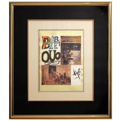 "1978 Salvador Dali ""Babaouo"" Mixed Media Collage"