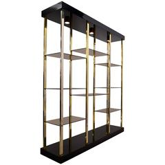 1980s Hollywood Regency Etagere by Belgo Chrome