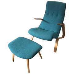 """Early """"Grasshopper"""" Lounge Chair and Ottoman by Eero Saarinen for Knoll"""