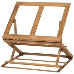 Collapsable Oak Folio Stand from Late 19th Century England