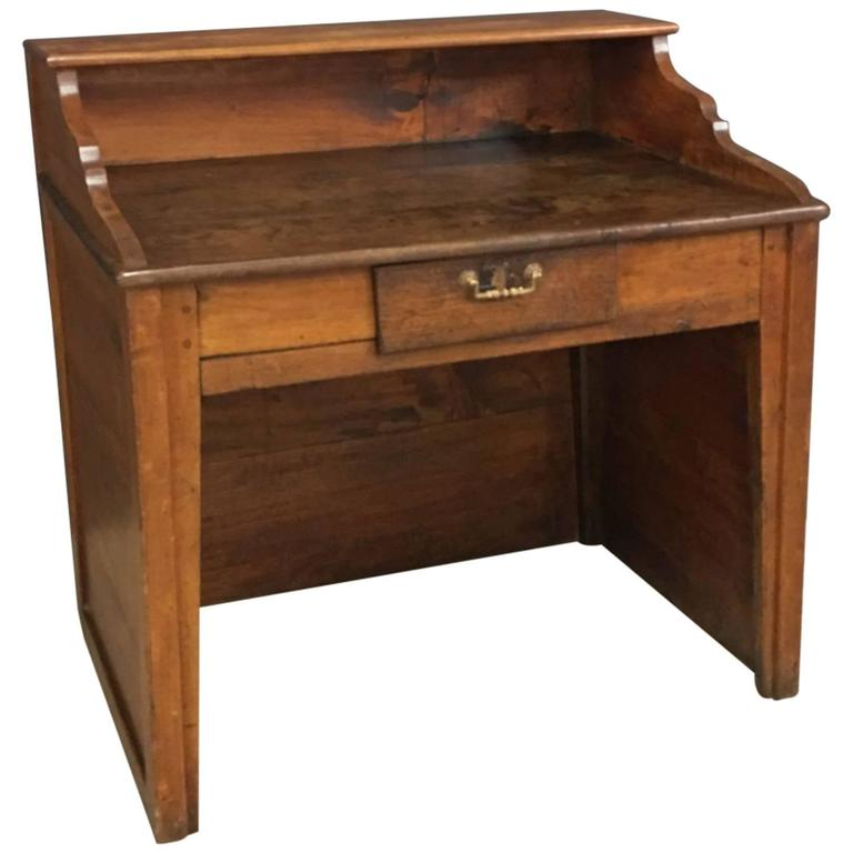 Small Antique Oak Wooden Desk At 1stdibs