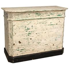 Wooden Counter with Distressed Paint
