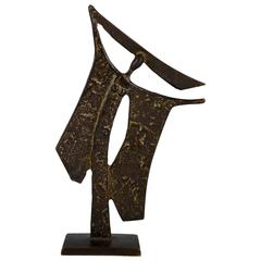 Bronze Sculpture of a Woman by Ugo Cara, Trieste Italy, 1960 Signed Numbered