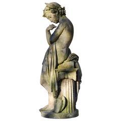 """Allegory of Sculpture"", Terracotta Statue, 19th Century, Period"