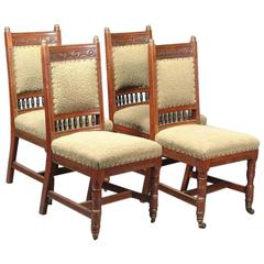 Set of Four Dining Chairs Attributed to E W Godwin