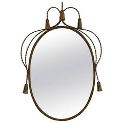 Hollywood Regency Gilded Frame Mirror by Li Puma Firenze, Italy