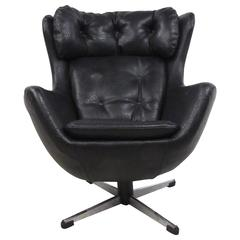 Vintage Modern Swivel Child's Lounge Chair in the Style of Arne Jacobsen