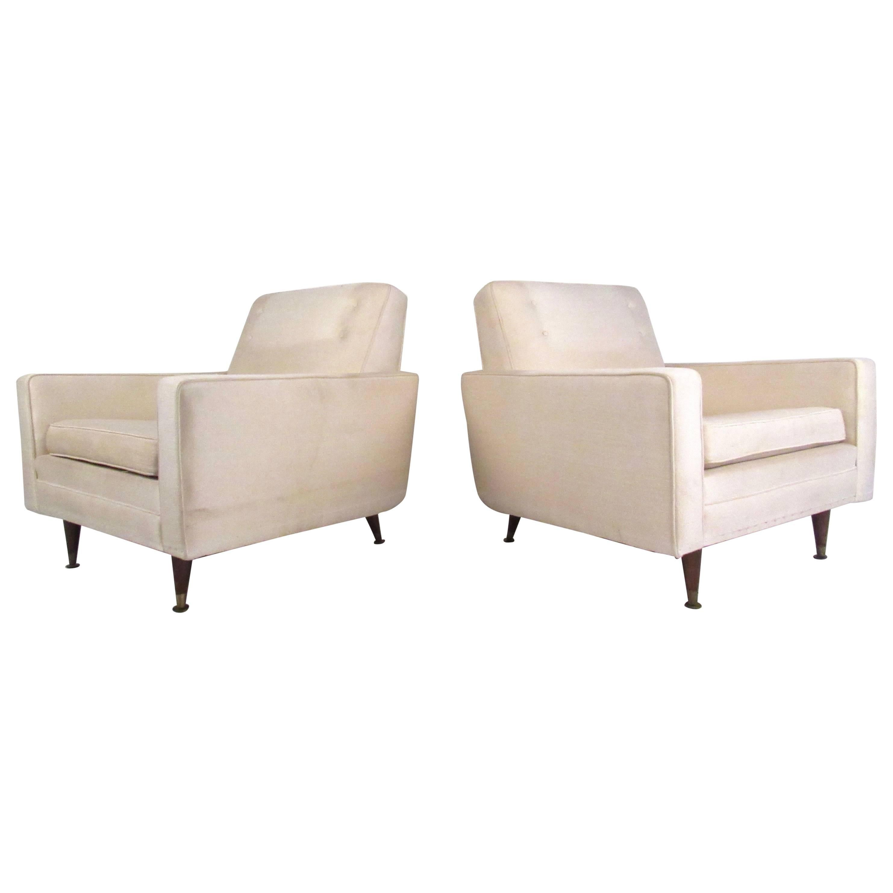 Pair of Mid-Century Modern Paul McCobb Style Lounge Chairs