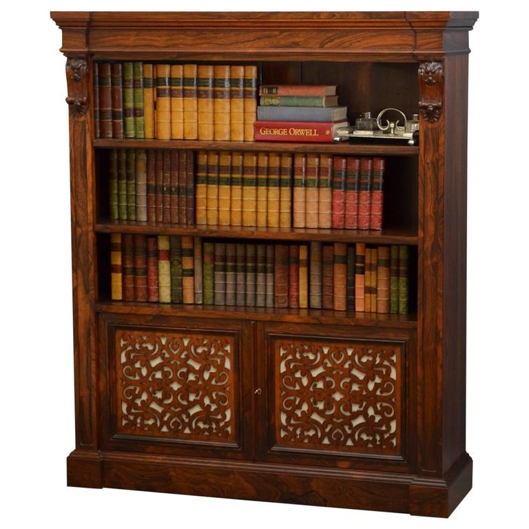 Exceptional William IV/Early Victorian Rosewood Bookcase