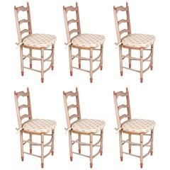 Set of Six Dining Chairs from 19th Century
