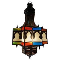 Moroccan Glass Lantern, Warda Style