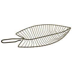 Fred Press for Rubel Wrought Iron Leaf Centerpiece Compote