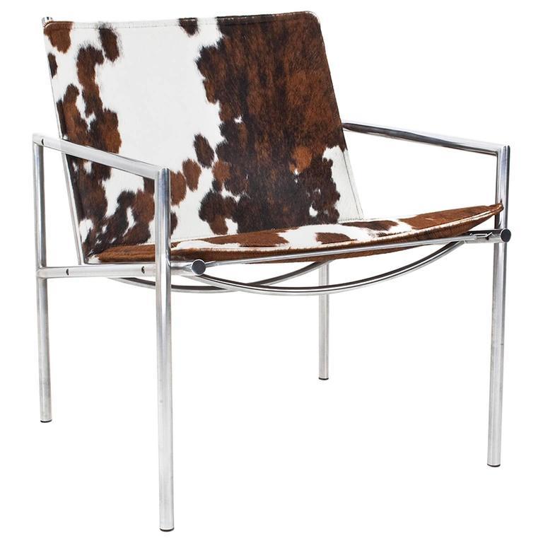 1968 martin visser sz03 easy chair in cow skin for for Dutch design chair karton