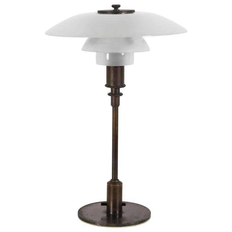 A rare 3/2 Table Lamp by Poul Henningsen