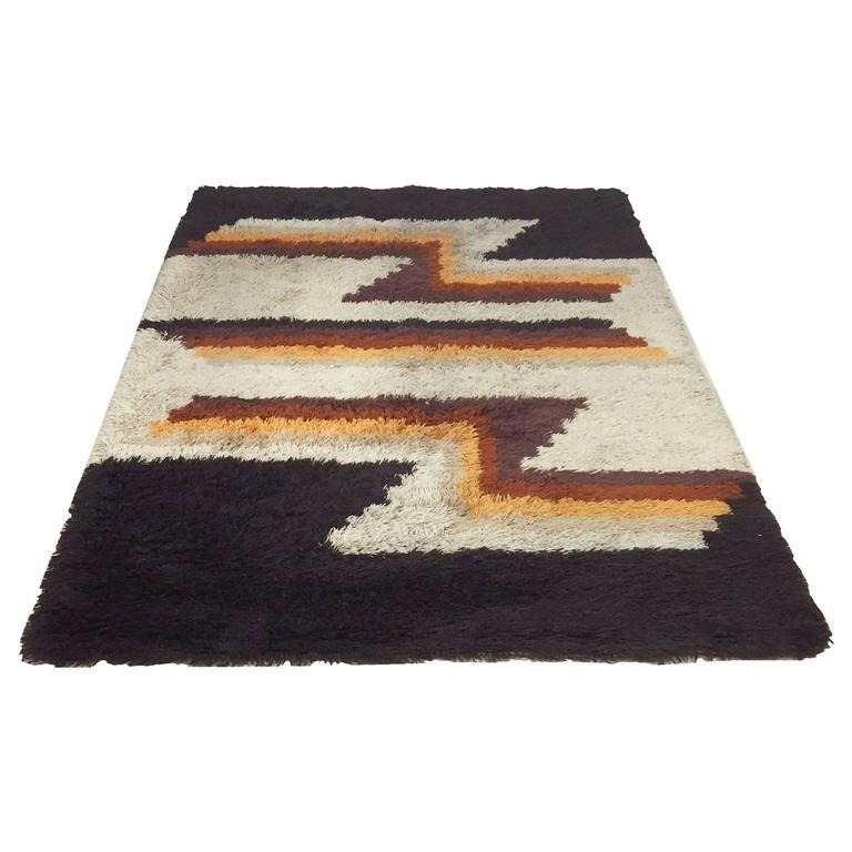 Vintage 1970s Modernist Extra Large Mid Century Modern Rug By Desso Germany For