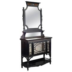 Aesthetic Movement Ebonized and Coromandel Side Cabinet by Lamb and Co.