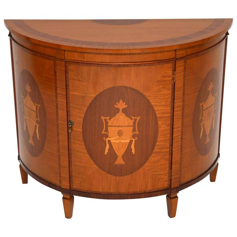 Antique Sheraton Style Inlaid Satin Wood Cabinet At 1stdibs