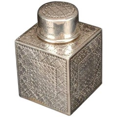 Liberty and Co. a Sterling Silver Square Tea Caddy, Birmingham, 1919