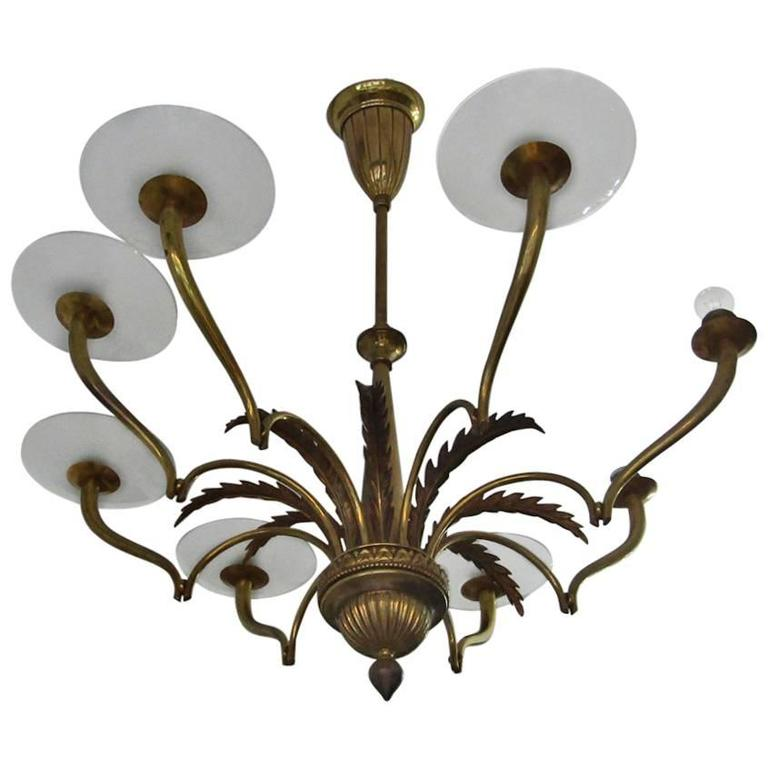 Chandelier Attributed to Gio Ponti