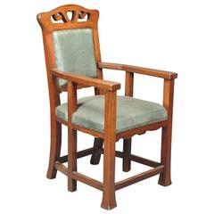 Oak Six-Legged Armchair Attributed to Sir Ambrose Heal