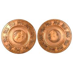 Pair of Brass Wall Plaques by WMF