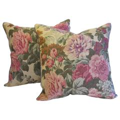 English Printed Linen Pillows by Mary Jane McCarty