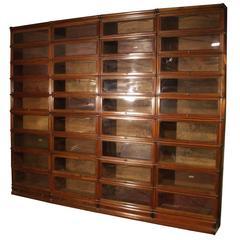 Big Mahogany Globe Wernicke Bookcase