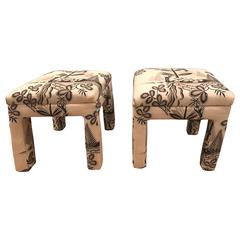 Upholstered Stools, 'Pair'