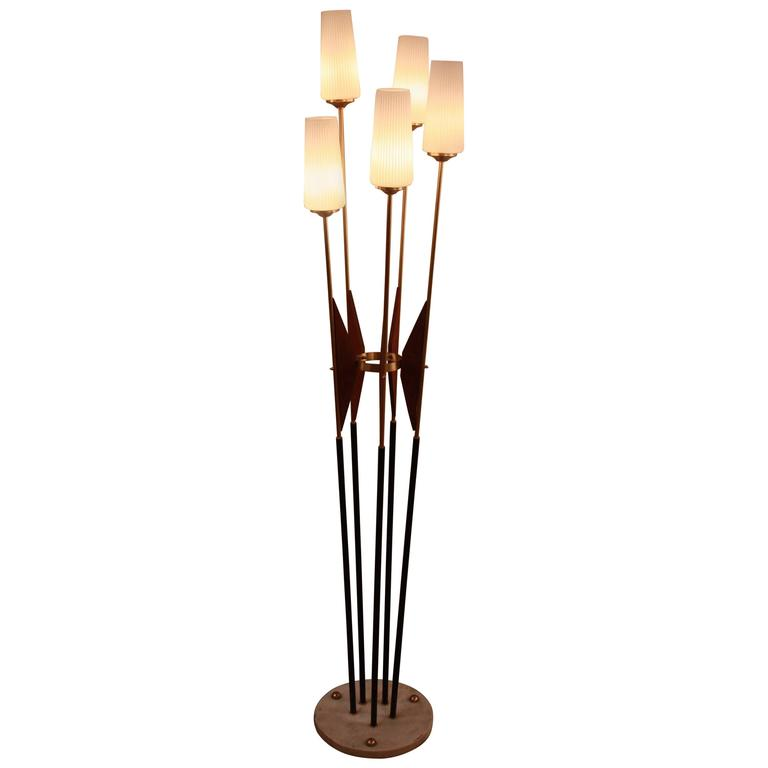 italian mid century modern floor lamp for sale at 1stdibs. Black Bedroom Furniture Sets. Home Design Ideas