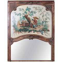 French Boiserie Trumeau with Chinoiserie Painting