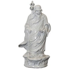 20th Century Chinese Blanc De Chine Porcelain Statue
